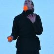 Jongleur dans la neige
