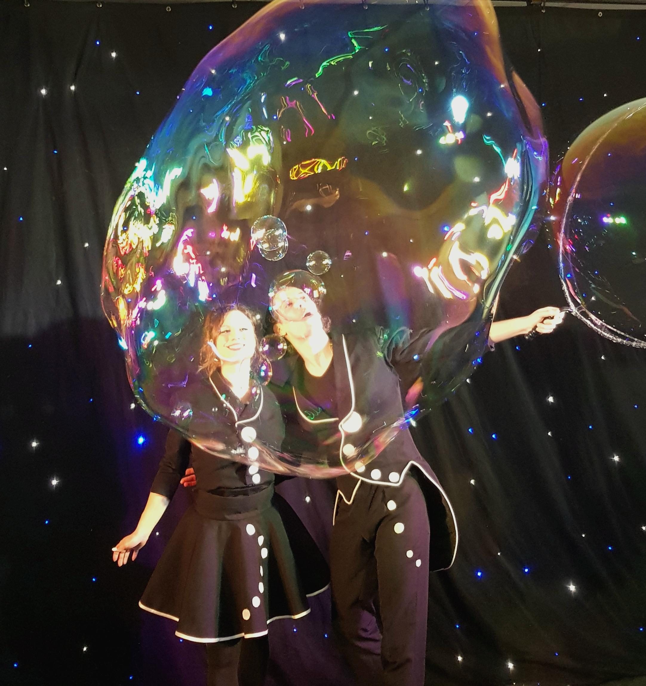 Spectacle avec des bulles