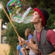 Spectacle de bulles fêtes votives