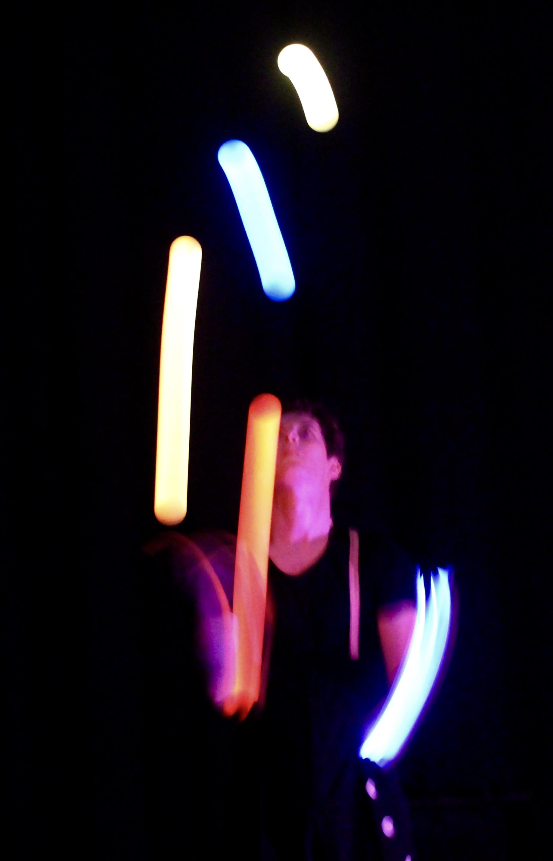 Jonglerie balles lumineuses
