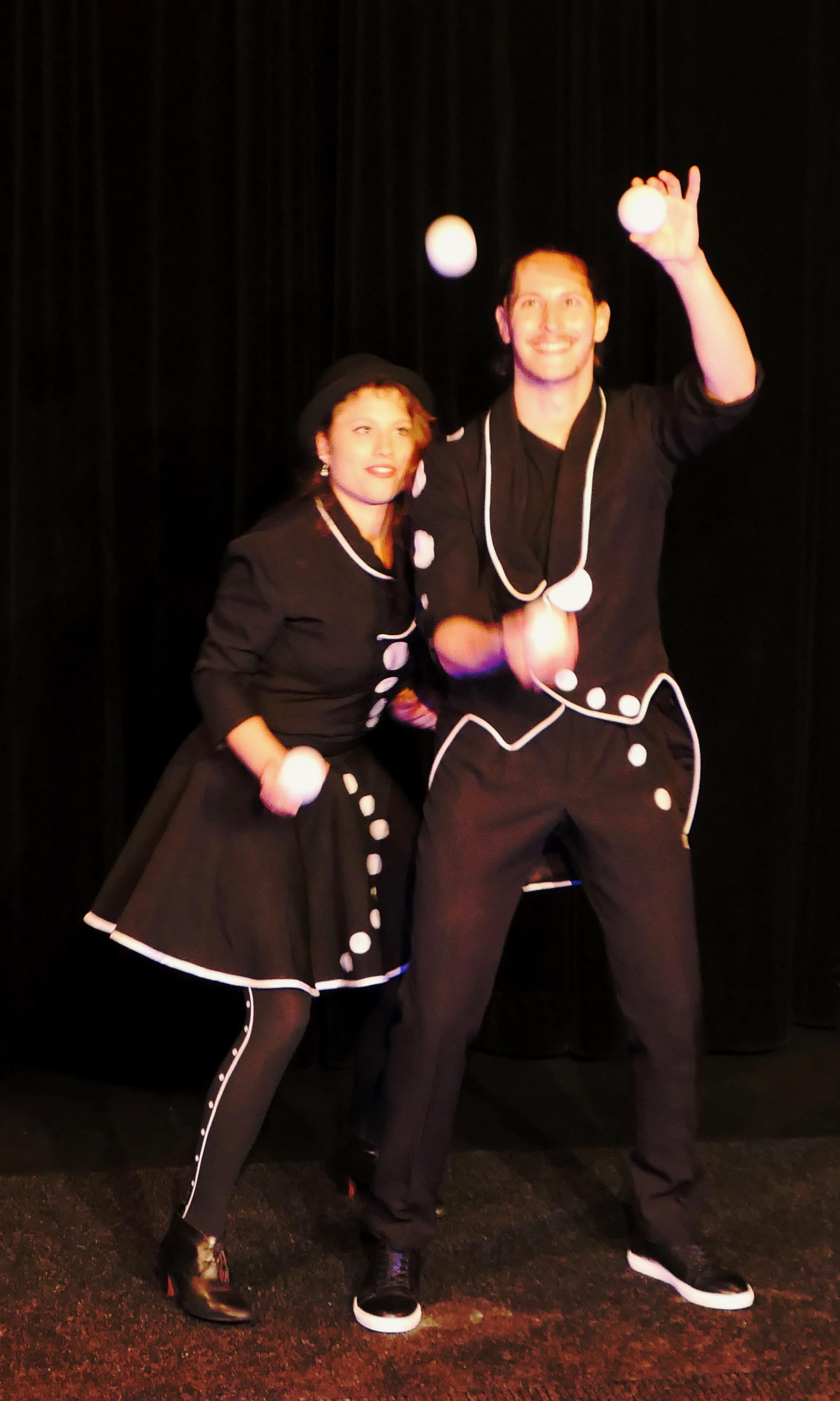 Duo de jongleurs