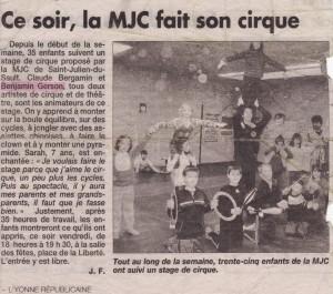 Ce soir, la MJC fait son cirque